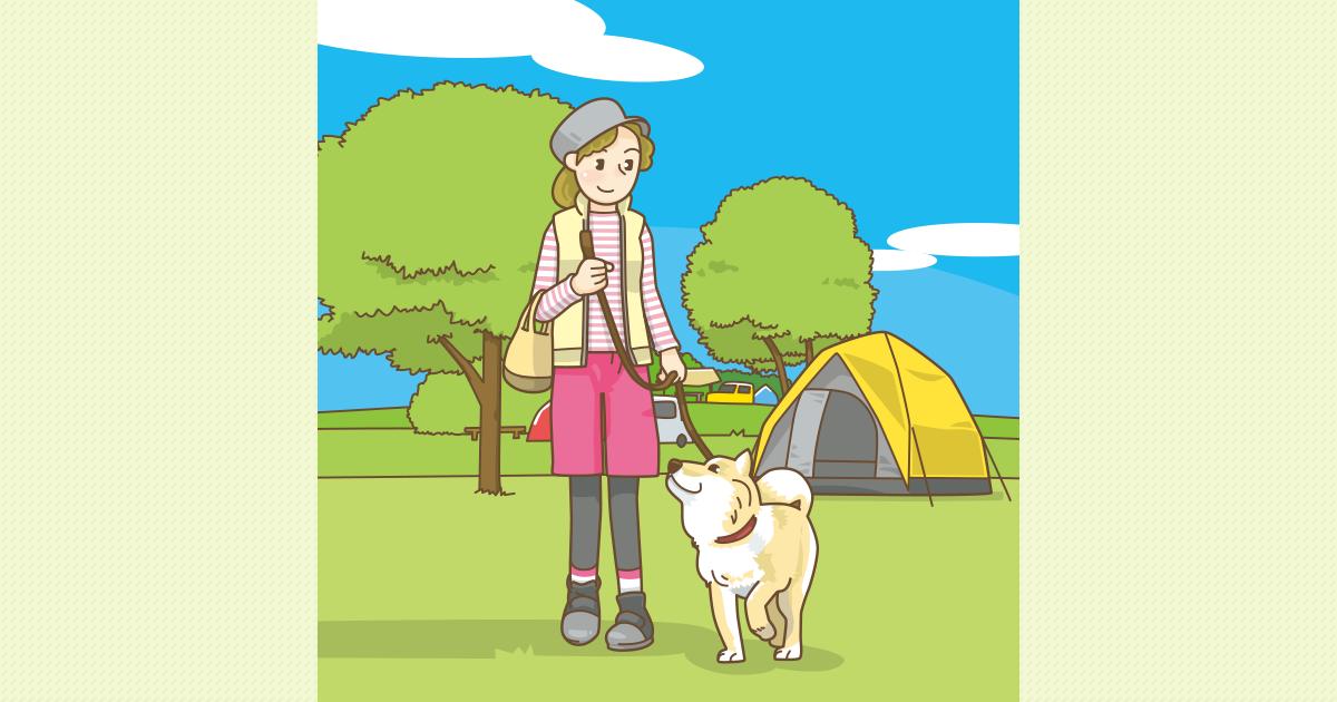 キャンプ場でのペットの扱い