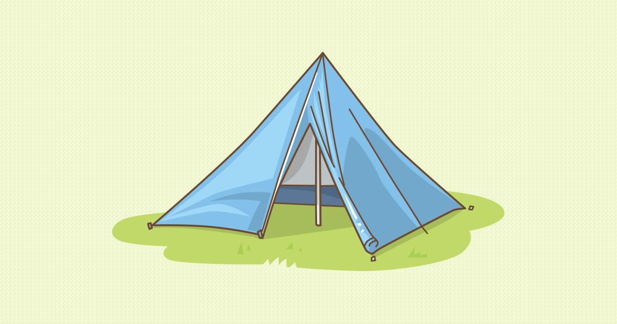 ワンポール型テント