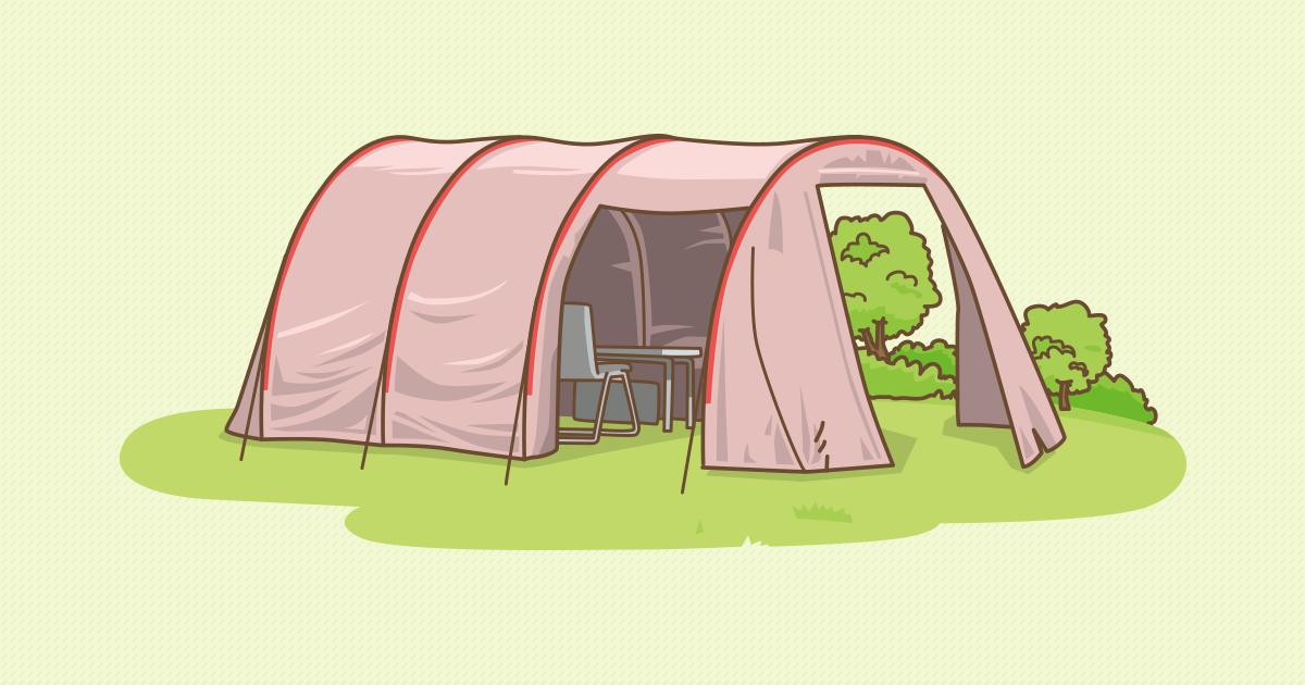 トンネル型テント